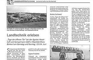 Sonderveröffentlichung im Landwirtschaftlichen Wochenblatt
