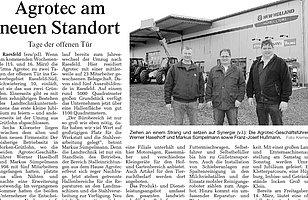 """Artikel """"Tag der offenen Tür"""" in der Borkener Zeitung"""